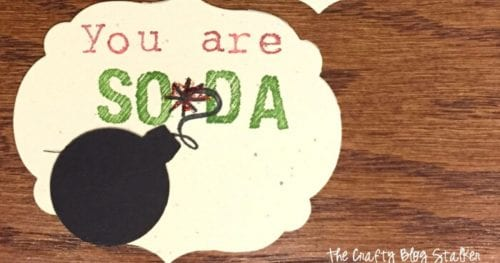 How to Make Homemade Gift Tags - You Are So-Da Bomb, a tutorial featured by top US craft blog, The Crafty Blog Stalker.