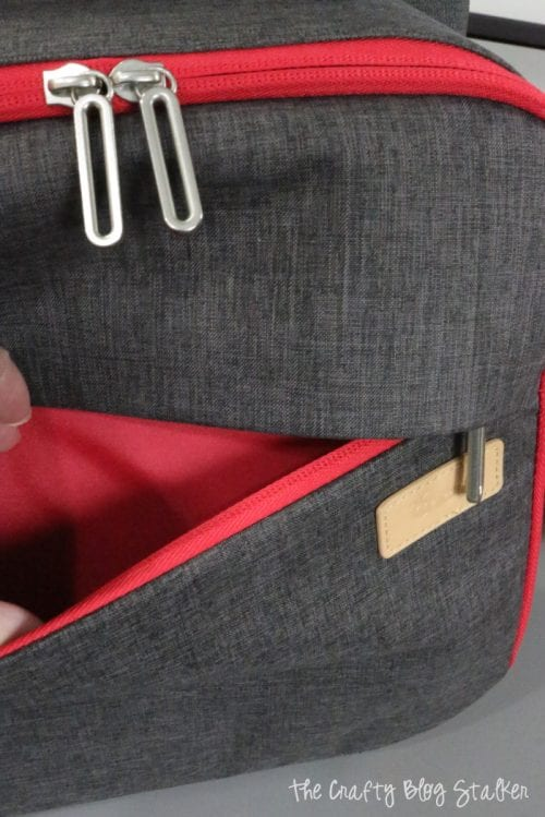 front zipper pocket in the easypress tote