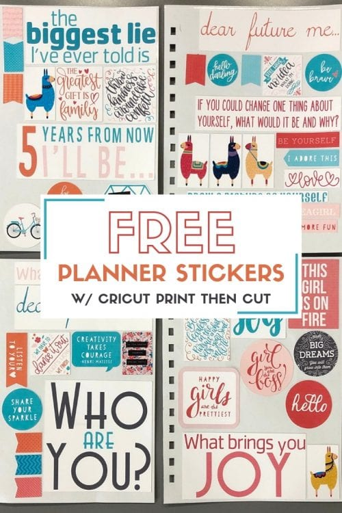 picture regarding Printable Stickers Free named Cost-free Printable Stickers for Your Planner with Cricut Print