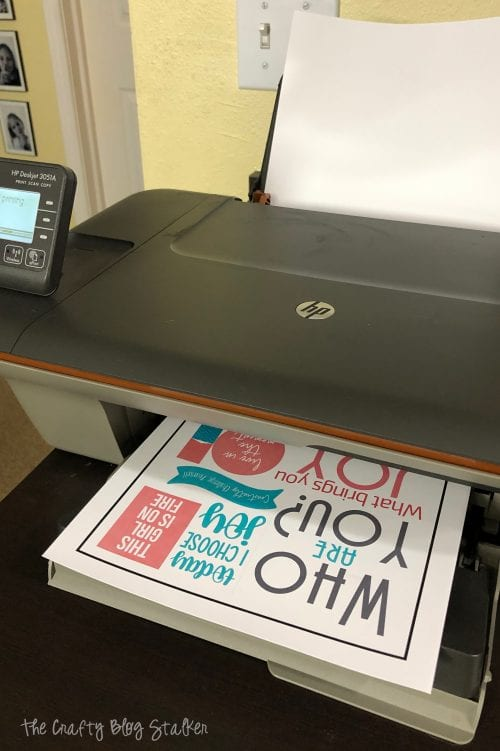 printing the planner stickers on my home printer HP Deskjet 3051A