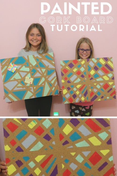 Title Image for How to Make a Painted Cork Board - Crafts for Kids