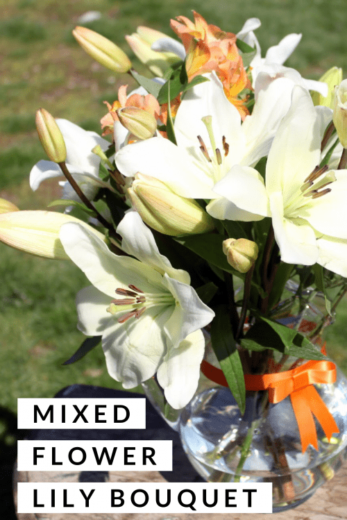 20 Fun DIY Easter Decor Ideas featured by top US craft blog, The Crafty Blog Stalker: Mixed Flower Lily Bouquet