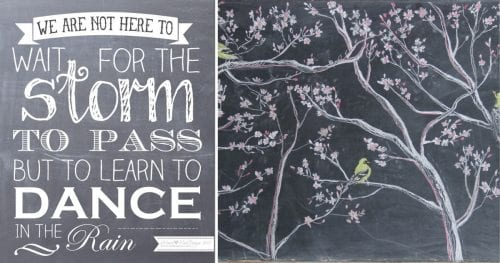 Chalk Art Ideas for Spring featured by top US craft blog, The Crafty Blog Stalker