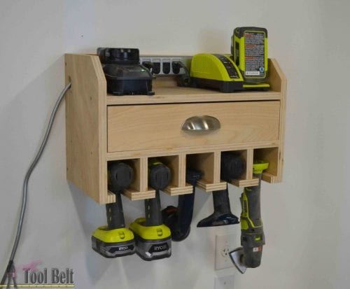 9 DIY Gifts for Dad perfect for Father's Day, featured by top US craft blog, The Crafty Blog Stalker: cordless drill storage and charging station