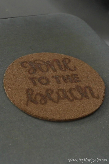 How to Make Wood Burning Cork Coasters with a Scorch Marker featured by top US craft blog, The Crafty Blog Stalker - wood burned look