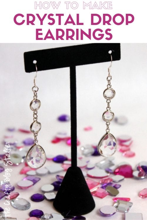 How to Make Crystal Drop Earrings featured by top US craft blog, The Crafty Blog Stalker - DIY Jewelry tutorial