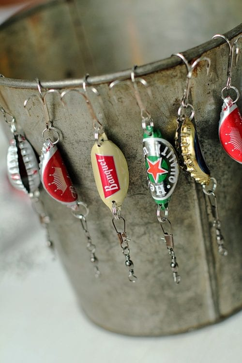 9 DIY Gifts for Dad perfect for Father's Day, featured by top US craft blog, The Crafty Blog Stalker: bottle cap fishing lures