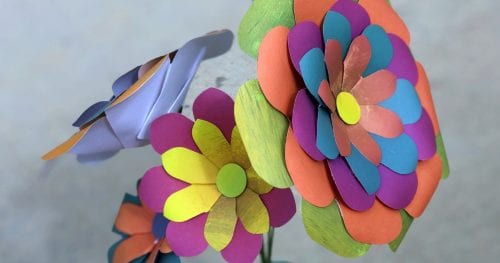bouquet of paper flowers made at home