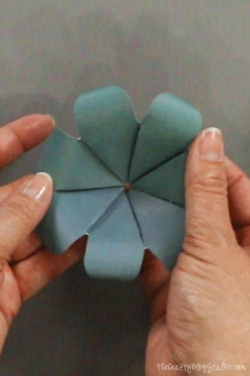 image of a finished paper flower layer