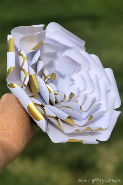image of a finished paper flower