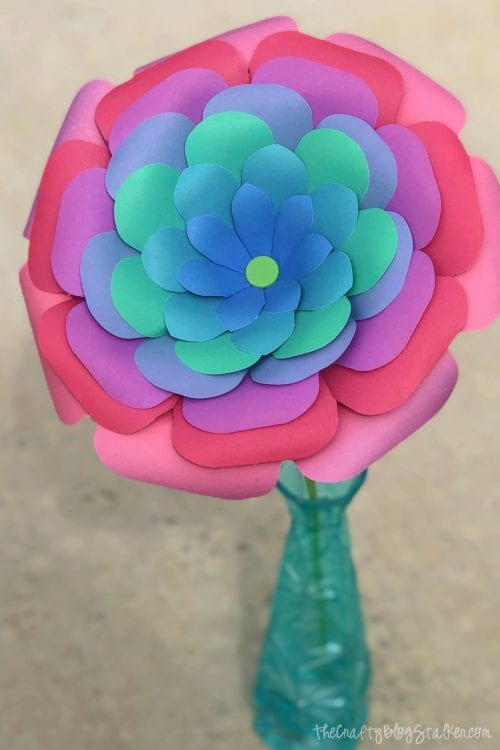 20 Beautiful Paper Flower Tutorials with a Flower Punch Board featured by top US craft blog, The Crafty Blog Stalker - paper flower tutorial
