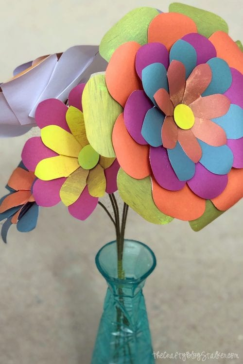 image of a paper flower bouquet