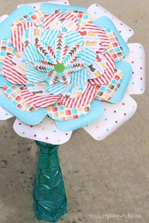 How to Make Paper Flowers at Home with a Flower Punch Board featured by top US craft blog, The Crafty Blog Stalker - paper flower tutorial