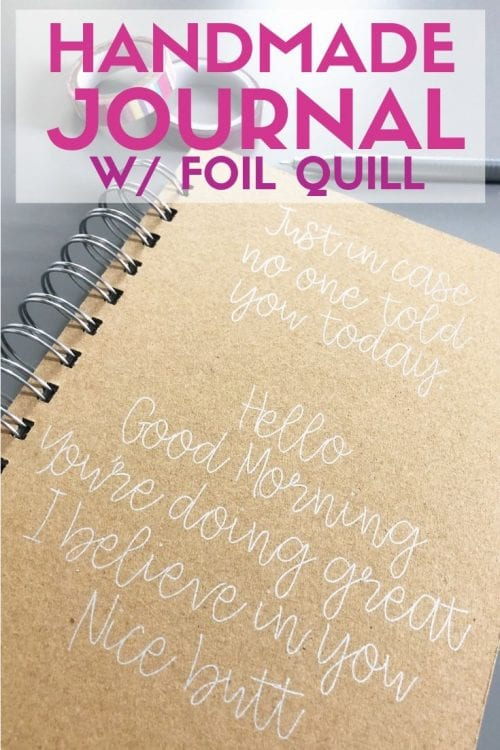 Handmade Journal with the foil quill, a complete tutorial featured by top US craft blog, The Crafty Blog Stalker