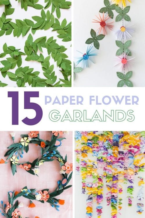 15 Fantastic Paper Flower Garlands for Weddings featured by top US craft blog, The Crafty Blog Stalker