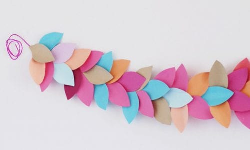 15 Fantastic Paper Flower Garlands for Weddings featured by top US craft blog, The Crafty Blog Stalker: image of a paper leaf garland