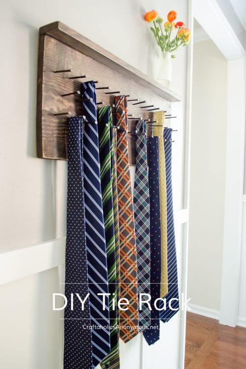 9 DIY Gifts for Dad perfect for Father's Day, featured by top US craft blog, The Crafty Blog Stalker: nail tie rack