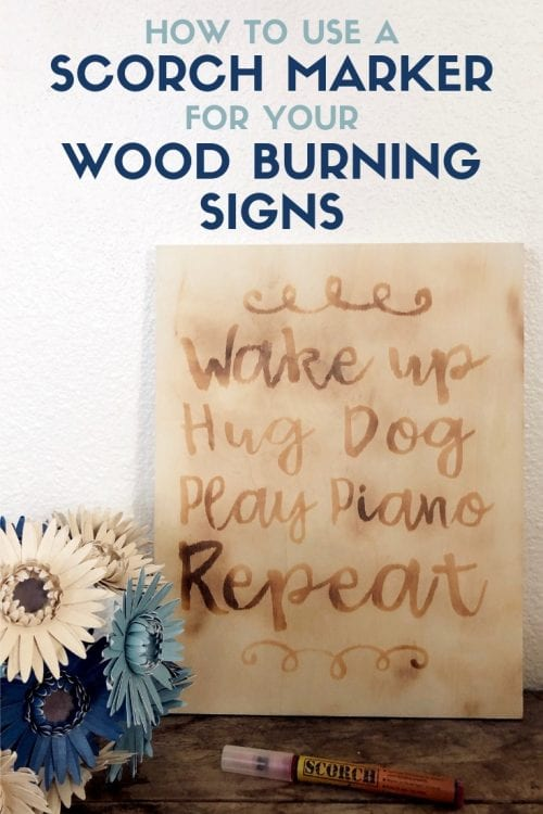 How to Use a Scorch Marker for your Wood Burning Signs featured by top US craft blog, The Crafty Blog Stalker