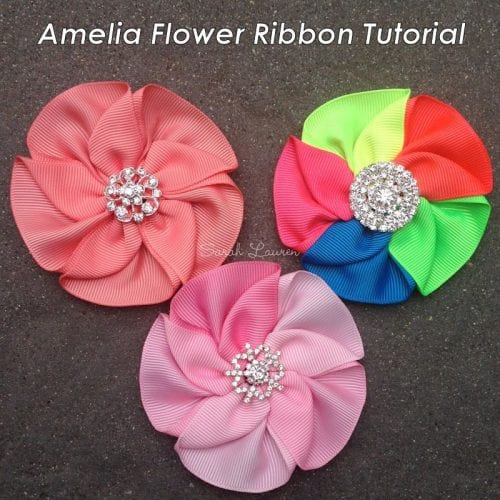 Amelia flower ribbon tutorial