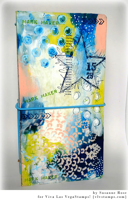 Handcrafted Journals featured by top US craft blog, The Crafty Blog Stalker: art journal cover