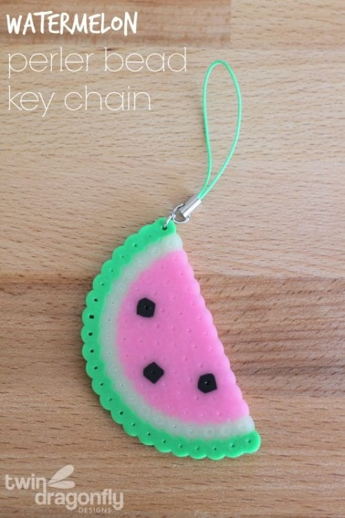 Top 20 Fun Watermelon Craft Ideas Perfect for Summer featured by top US craft blog, The Crafty Blog Stalker: key chain