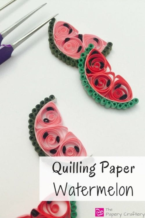 Top 20 Fun Watermelon Craft Ideas Perfect for Summer featured by top US craft blog, The Crafty Blog Stalker: quilling paper