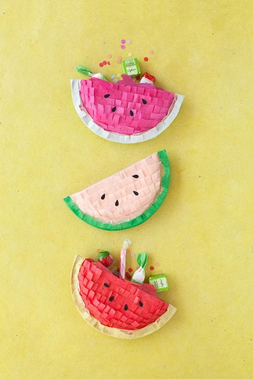 Top 20 Fun Watermelon Craft Ideas Perfect for Summer featured by top US craft blog, The Crafty Blog Stalker: pinatas