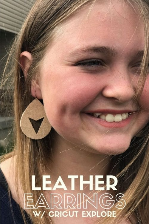 20 Cute Handmade Earrings Ideas featured by top US craft blog, The Crafty Blog Stalker: image of cute leather earrings