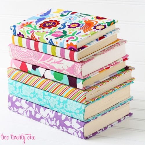 Handcrafted Journals featured by top US craft blog, The Crafty Blog Stalker: fabric covered journals