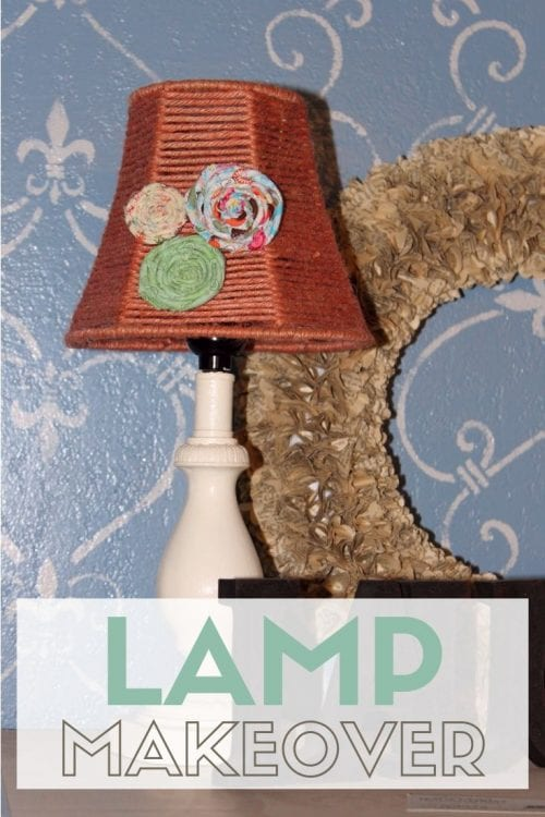 How to Paint a Lamp and Lampshade Redo