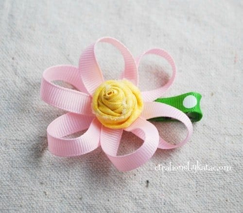 loopy ribbon flower
