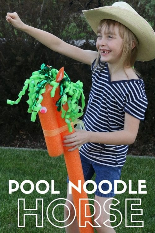 How to Make a Super Fun Pool Noodle Horse, a Complete Tutorial featured by top US craft blog, The Crafty Blog Stalker