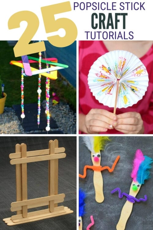 title image for 25 Easy Popsicle Stick Crafts for Kids