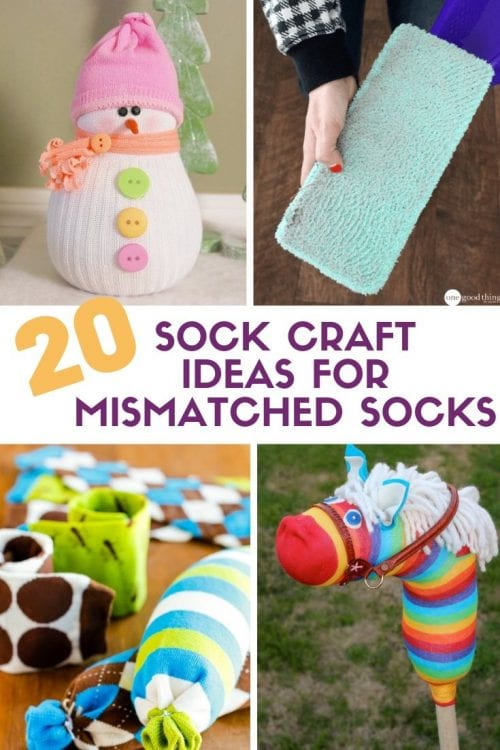 20 Sock Craft Ideas to make with Mismatched Socks featured by top US craft blog, The Crafty Blog Stalker
