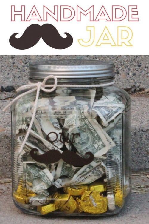 How To Make A Vinyl Stache Jar Wedding Gift Idea