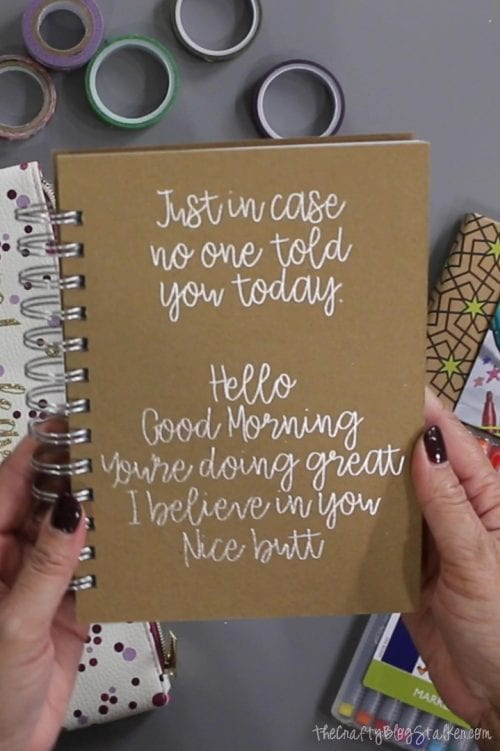 6 Essentials to Include in a DIY Travelers Journal Kit featured by top US craft blog, The Crafty Blog Stalker: handmade journal tutorial using the Foil Quill