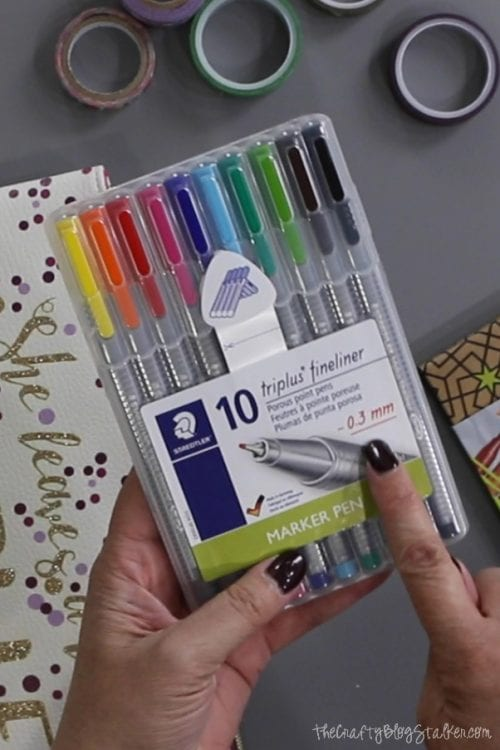 6 Essentials to Include in a DIY Travelers Journal Kit featured by top US craft blog, The Crafty Blog Stalker: Triplus Fineliner .3 mm pens