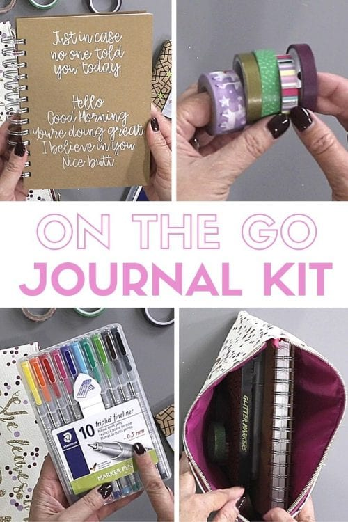 6 Essentials to Include in a DIY Travelers Journal Kit featured by top US craft blog, The Crafty Blog Stalker