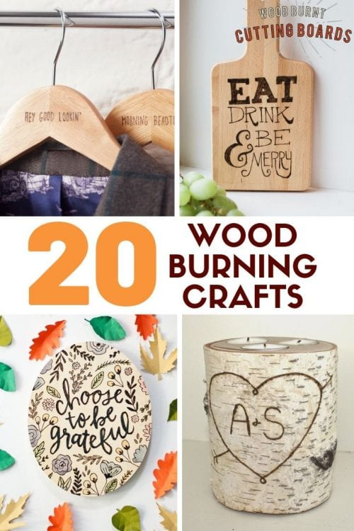 Top 20 Easy Wood Burning Crafts featured by top US craft blog, The Crafty Blog Stalker: