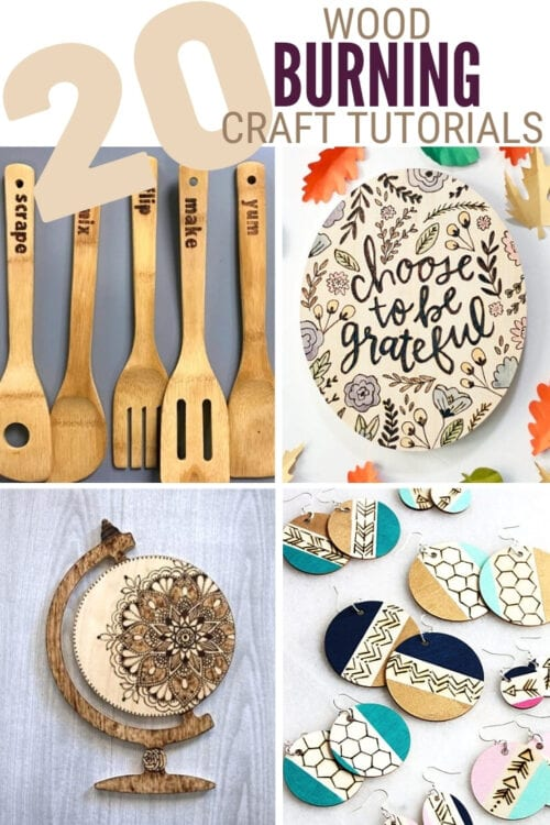 title image for Top 20 Easy Wood Burning Crafts from Pinterest