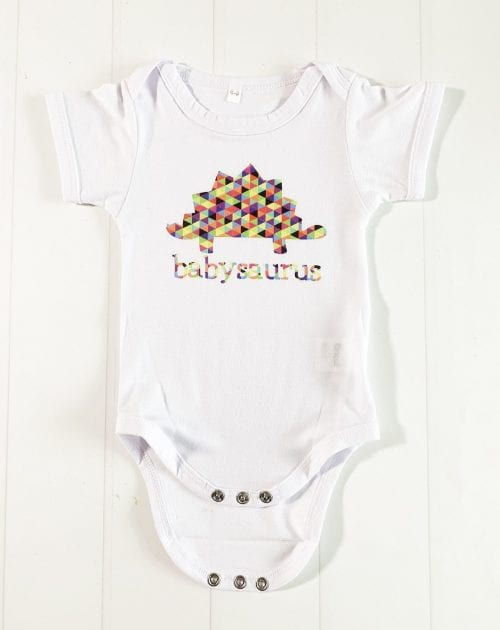 Infusible Ink Projects featured by top US craft blog, The Crafty Blog Stalker: image of infusible ink baby onesie
