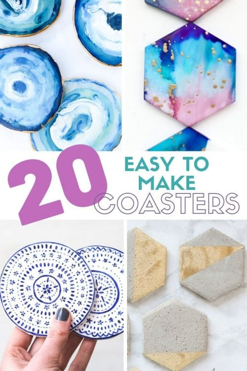 Easy-to-Make DIY Coasters featured by top US craft blog, The Crafty Blog Stalker