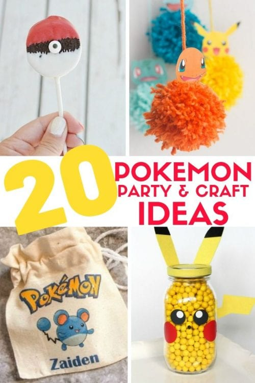 Top 20 Pokemon Party and Craft Ideas featured by top US craft blog, The Crafty Blog Stalker