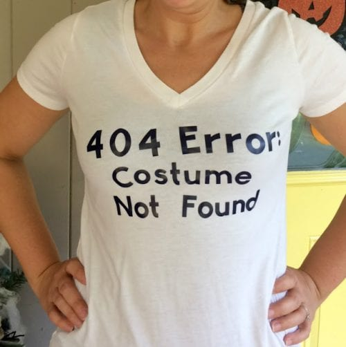20 Amazing Cricut Halloween Costume Ideas featured by top US craft blog, The Crafty Blog Stalker: 404 costume