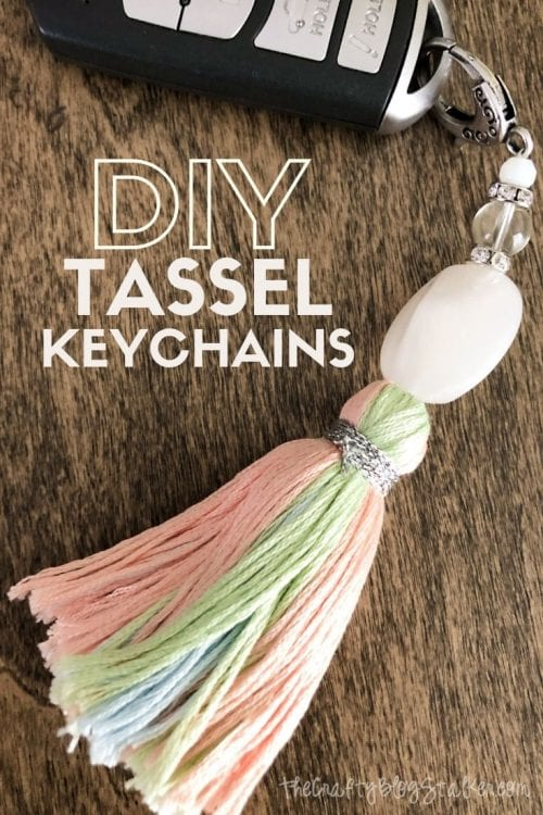 20 of the Best Handmade Keychains & Keyrings featured by top US craft blog, The Crafty Blog Stalker: DIY tassel chain