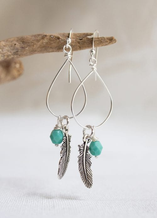 20 Cute Handmade Earrings Ideas featured by top US craft blog, The Crafty Blog Stalker: iamge of wire dropped earrings