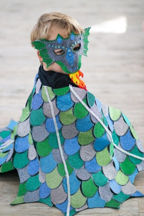 20 Amazing Cricut Halloween Costume Ideas featured by top US craft blog, The Crafty Blog Stalker: dragon costume