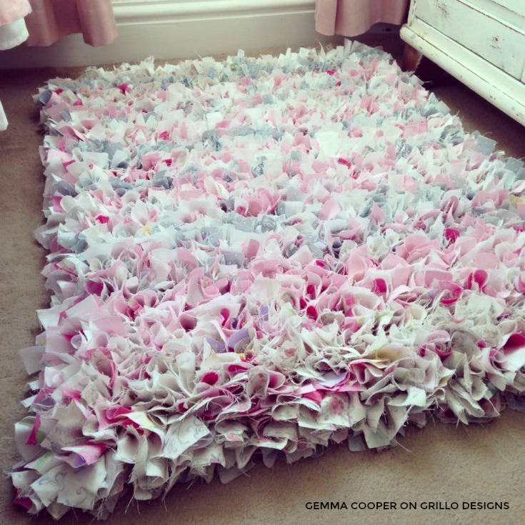 Make A Diy Rag Rug Grillo Designs Www