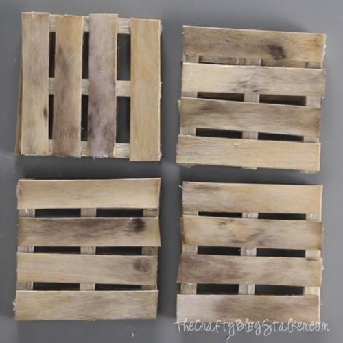 completed pallet coasters