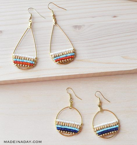 20 Cute Handmade Earrings Ideas featured by top US craft blog, The Crafty Blog Stalker: image of boho earrings